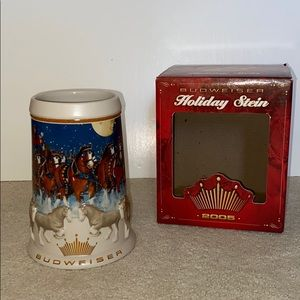 Rare 2005 Budweiser Clydesdale Holiday Stein